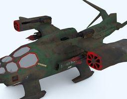 realtime sci-fi dropship 3d model