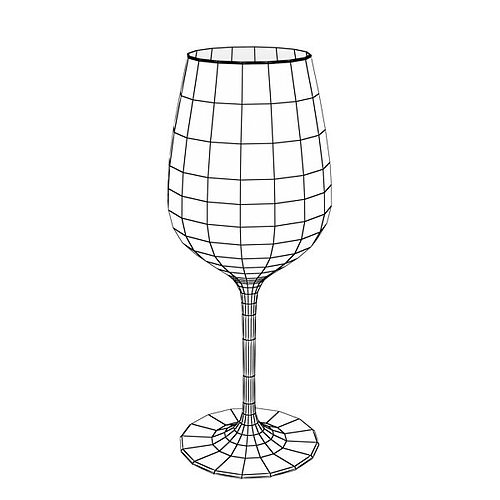 6 wine glass collection 3d model max obj 3ds fbx mtl mat 15