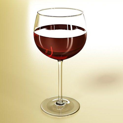 6 wine glass collection 3d model max obj 3ds fbx 16