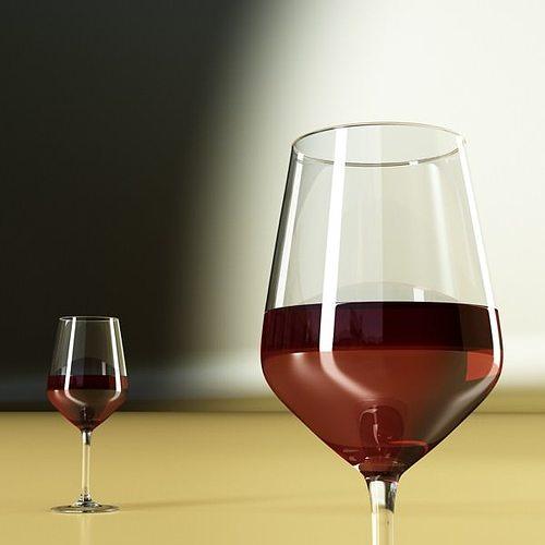 6 wine glass collection 3d model max obj 3ds fbx mtl mat 24