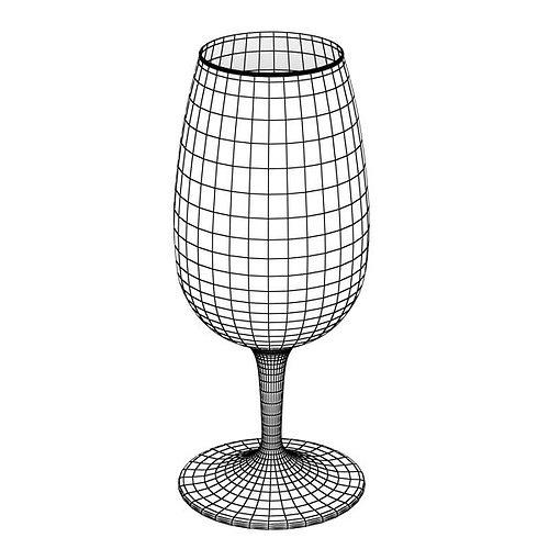 6 wine glass collection 3d model max obj 3ds fbx 10