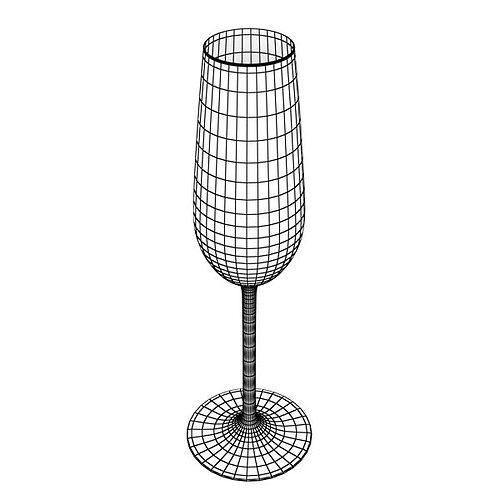 6 wine glass collection 3d model max obj 3ds fbx mtl mat 6