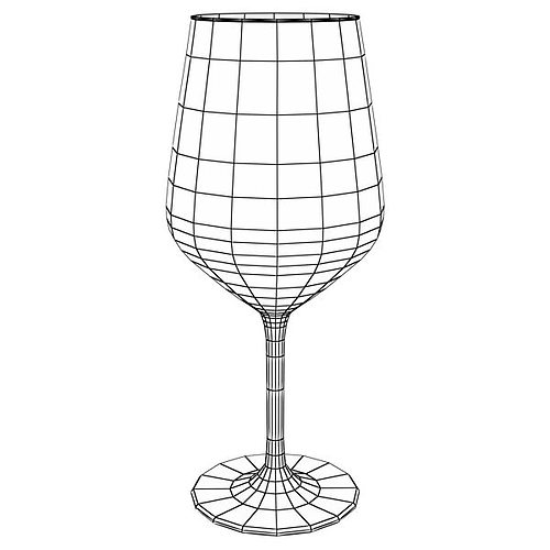 6 wine glass collection 3d model max obj 3ds fbx mtl mat 27