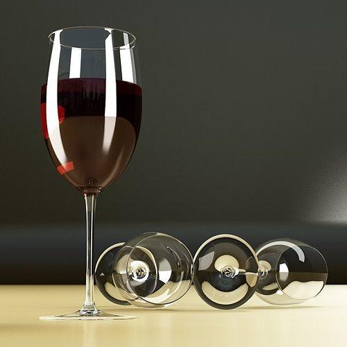 6 wine glass collection 3d model max obj 3ds fbx 21