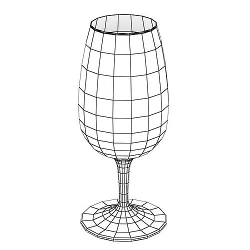 6 wine glass collection 3d model max obj 3ds fbx mtl mat 11