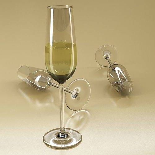 6 wine glass collection 3d model max obj 3ds fbx mtl mat 5