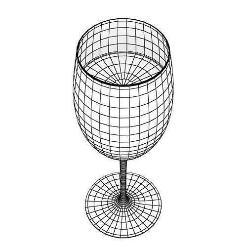 6 wine glass collection 3d model max obj 3ds fbx 22
