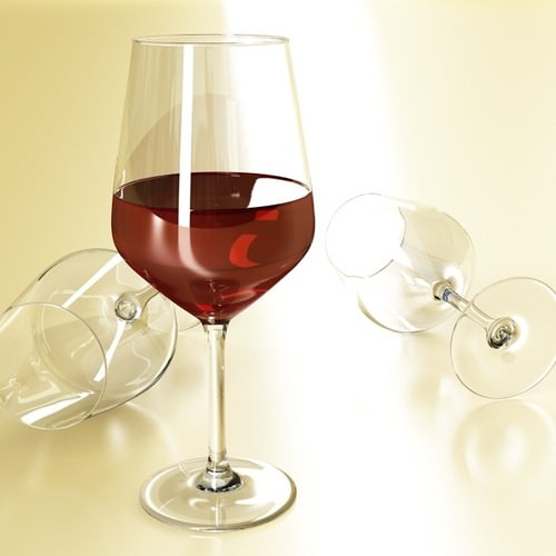 6 Wine glass Collection 3D Model .max .obj .3ds .fbx