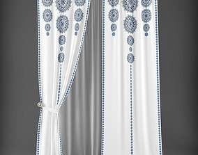 Curtain 3D model 286 game-ready