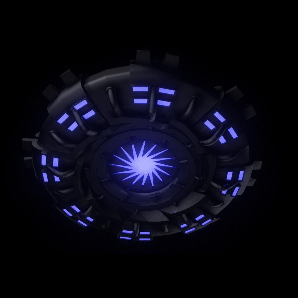 Ufo Flying Saucer 3d Model Game Ready Rigged Obj Fbx