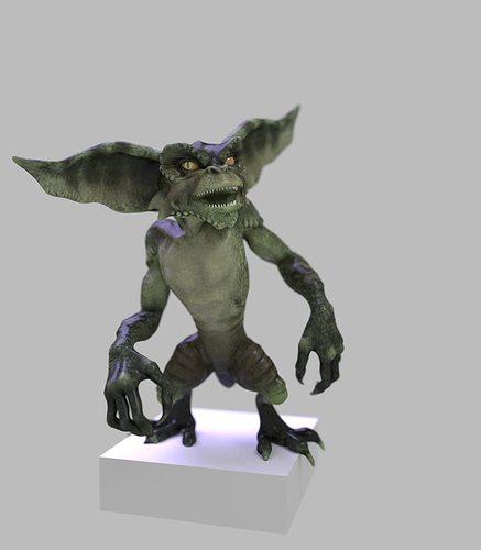 Gremlin Figurine 3D Model 3D Printable OBJ STL