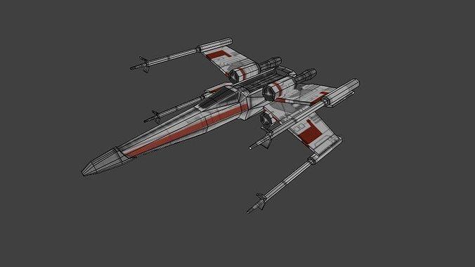 xwing 3d model obj mtl 1