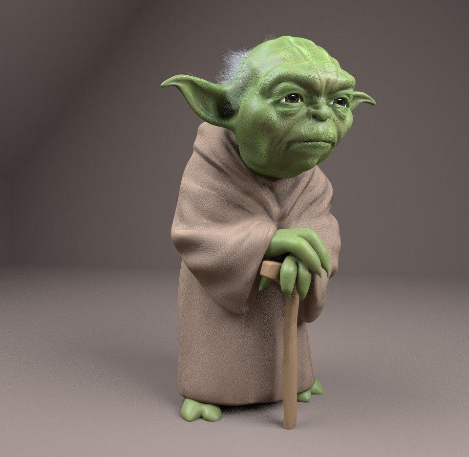 Yoda Figurine Free 3D Model 3D Printable OBJ