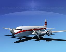 3D model Douglas DC-7C Richards Aviation