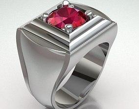 3D print model Ring Man gemstone