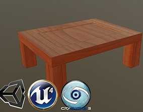 Cartoon stylized coffee table 3D asset