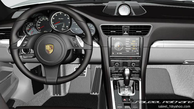 911 turbo s cabriolet 2015 interior 3d model max obj. Black Bedroom Furniture Sets. Home Design Ideas