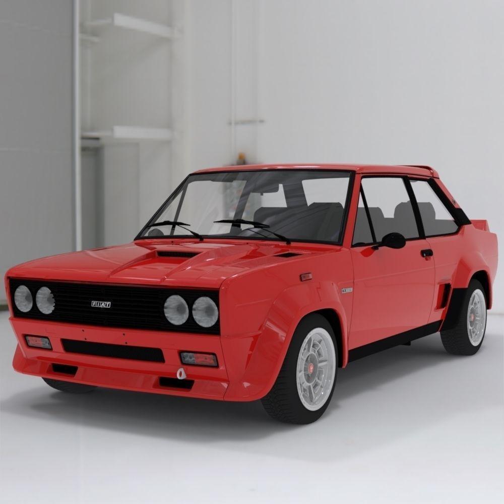 Fiat Abarth 131 Stradale Sports Car 3D Model