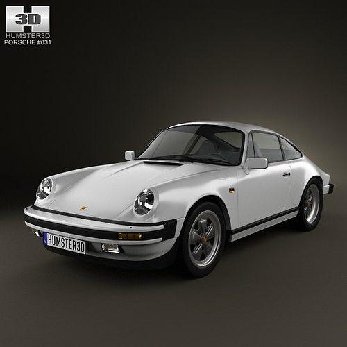 porsche 911 carrera coupe 1987 3d model max obj mtl 3ds fbx c4d lwo lw lws 1