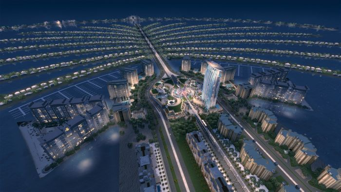 Dubai Palm Island Nighting 3d Model Max 2