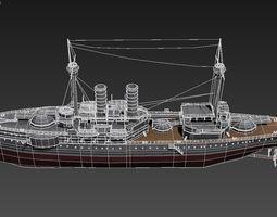 Barbaros Battleship 3D Model