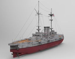 Hms Goliath Battleship 3D Model