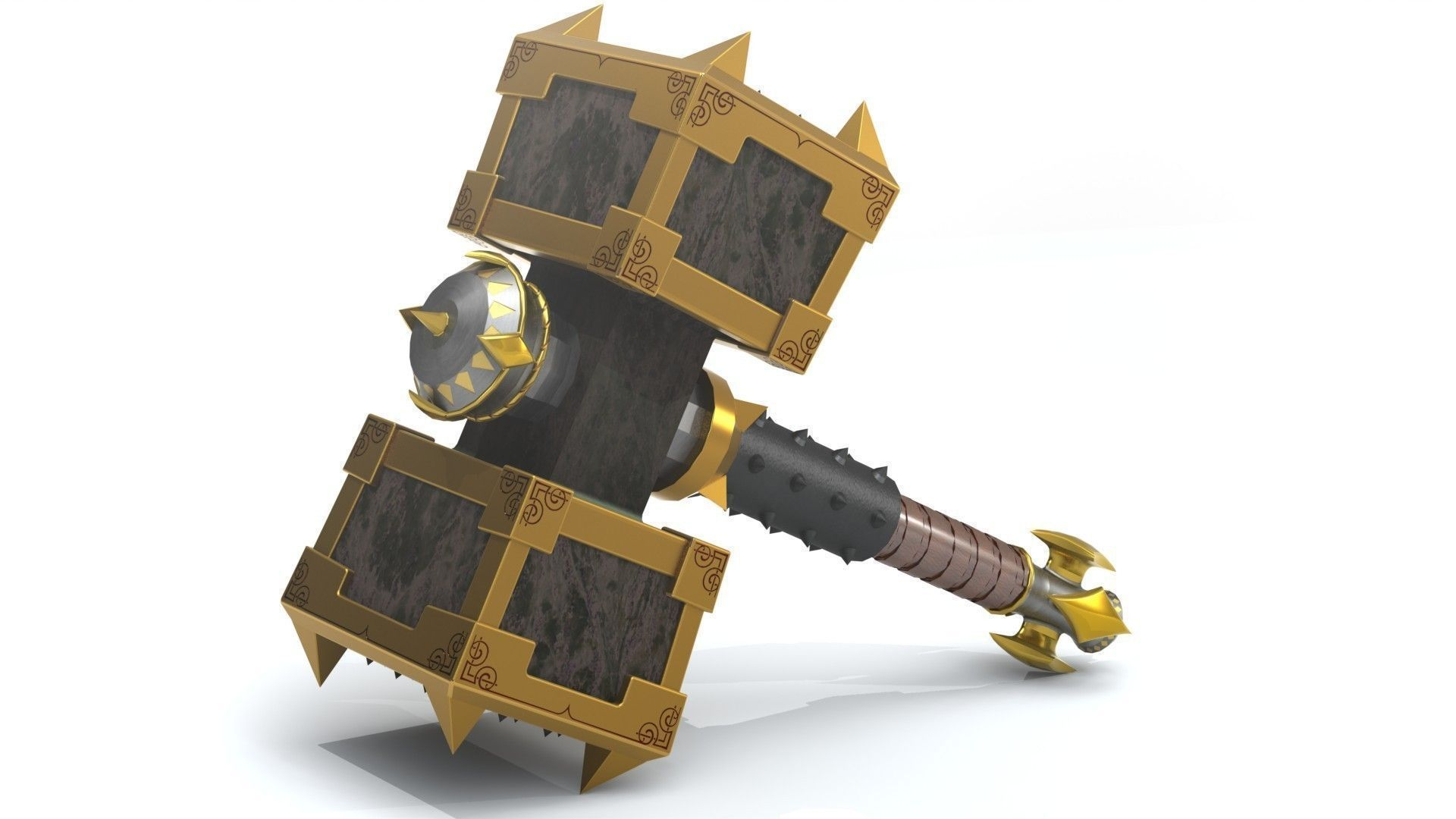 Battle Hammer 3d Model 3d Printable Stl Cgtrader Com