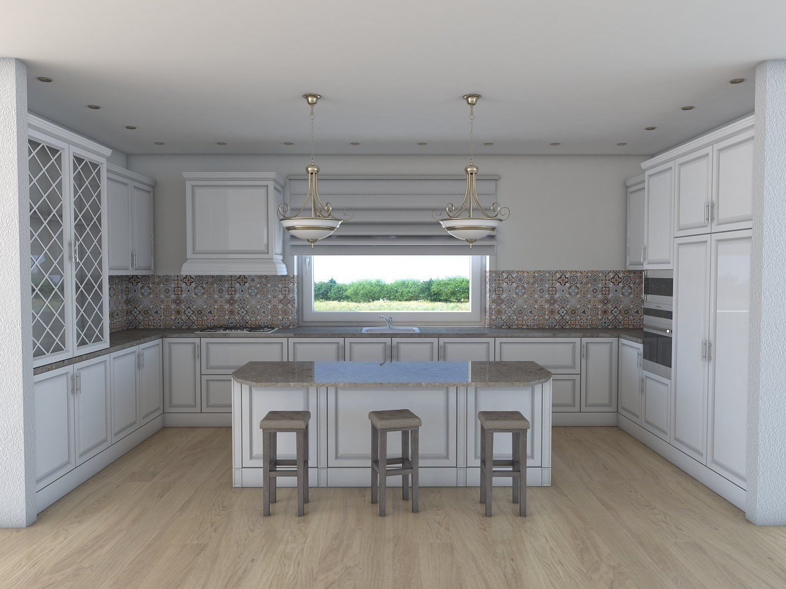Kitchen 3D Model Kitchen Architectural 3D  Cgtrader