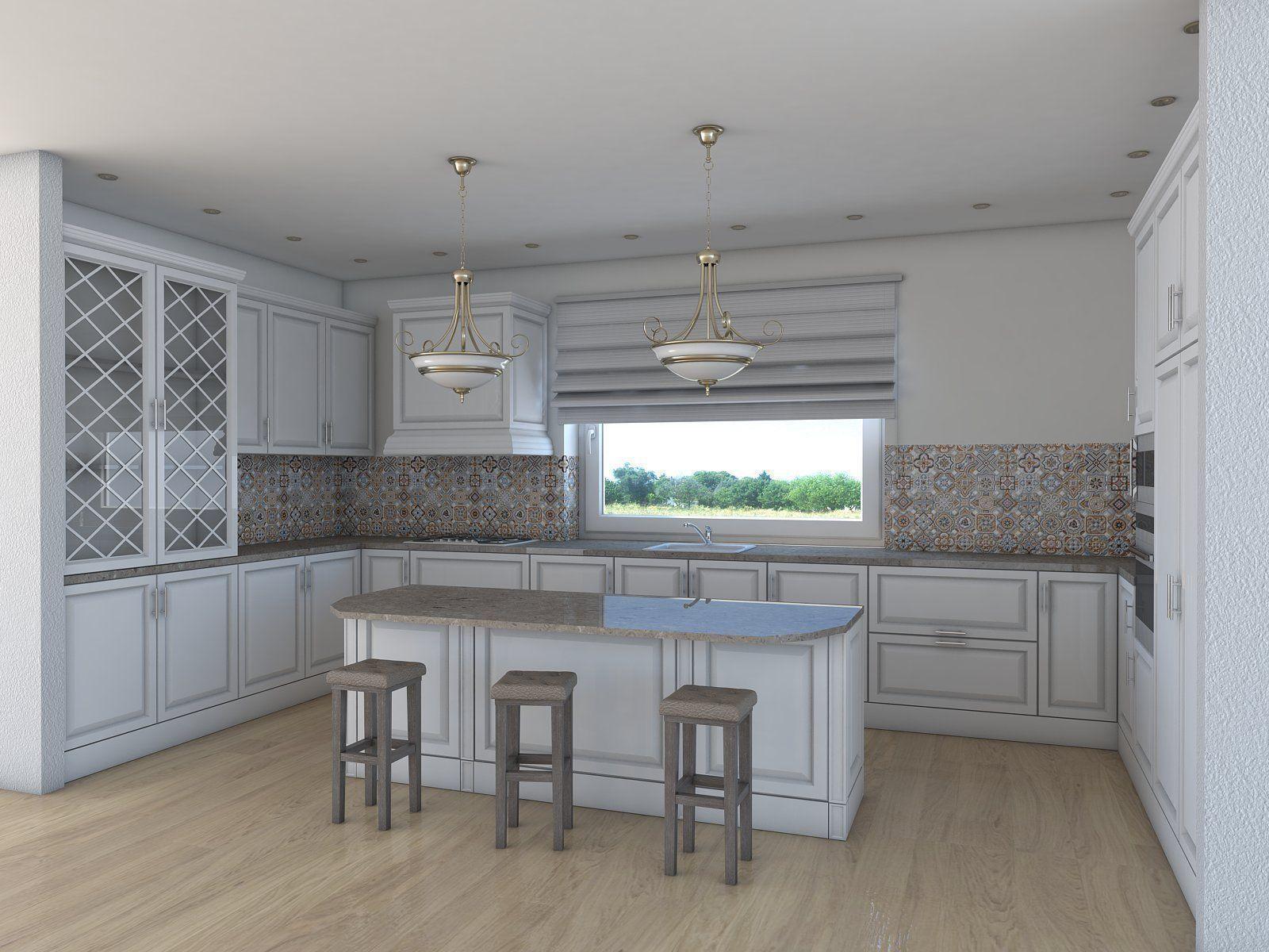 Kitchen 3d Model kitchen architectural 3d | cgtrader
