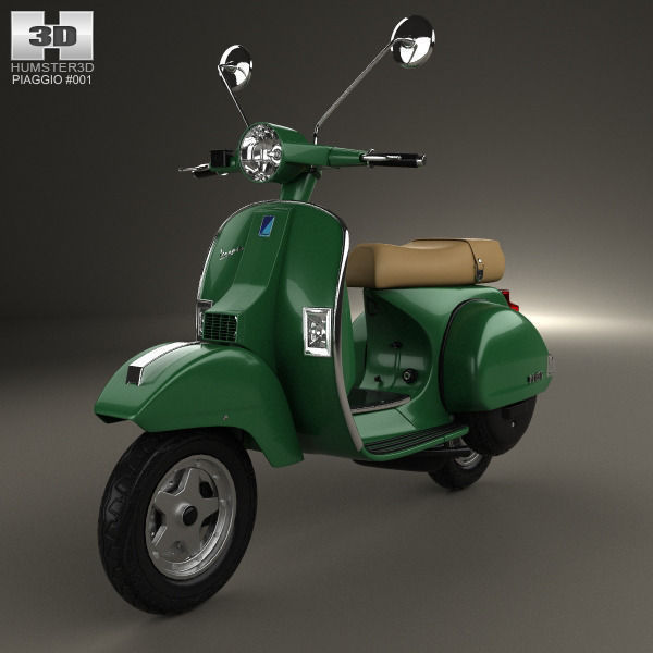 piaggio vespa px 125 2012 3d model max obj 3ds fbx c4d lwo. Black Bedroom Furniture Sets. Home Design Ideas