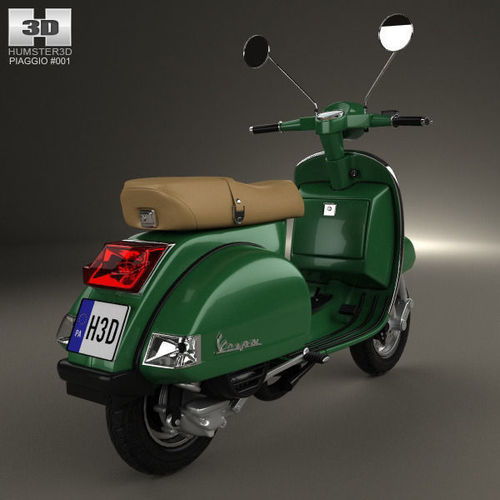 piaggio vespa px 125 2012 3d model max obj 3ds fbx. Black Bedroom Furniture Sets. Home Design Ideas