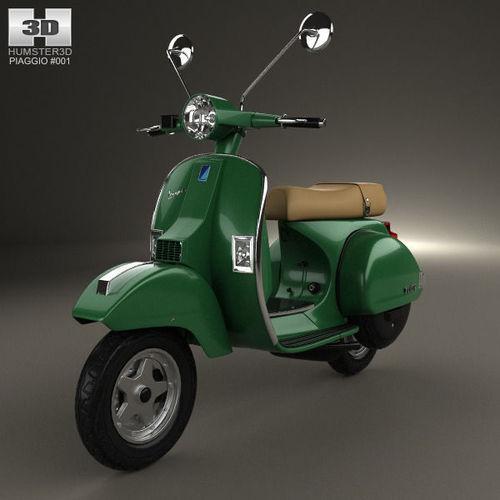 piaggio vespa px 125 2012 3d model max obj 3ds fbx c4d lwo lw lws. Black Bedroom Furniture Sets. Home Design Ideas