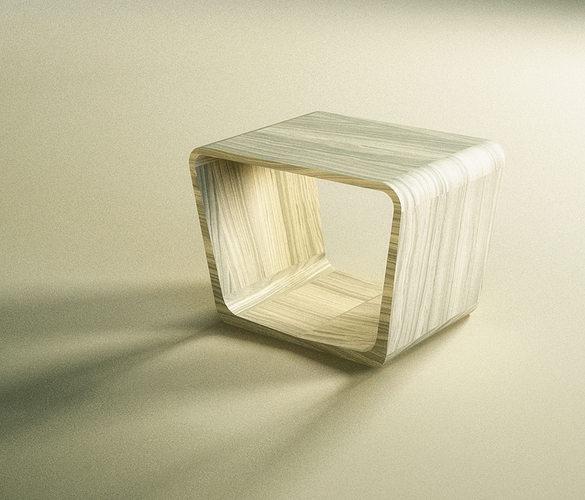 coffee table simple design made of wood bernhardt design model 3d model 3ds stl 3dm 1