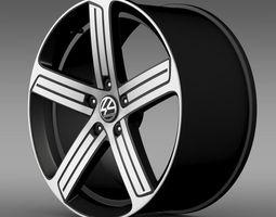 Volkswagen Golf R rim 3D Model
