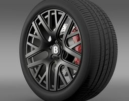 Bentley Continental GT Speed wheel 3D Model