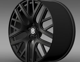 Bentley Continental GT Speed rim 3D model