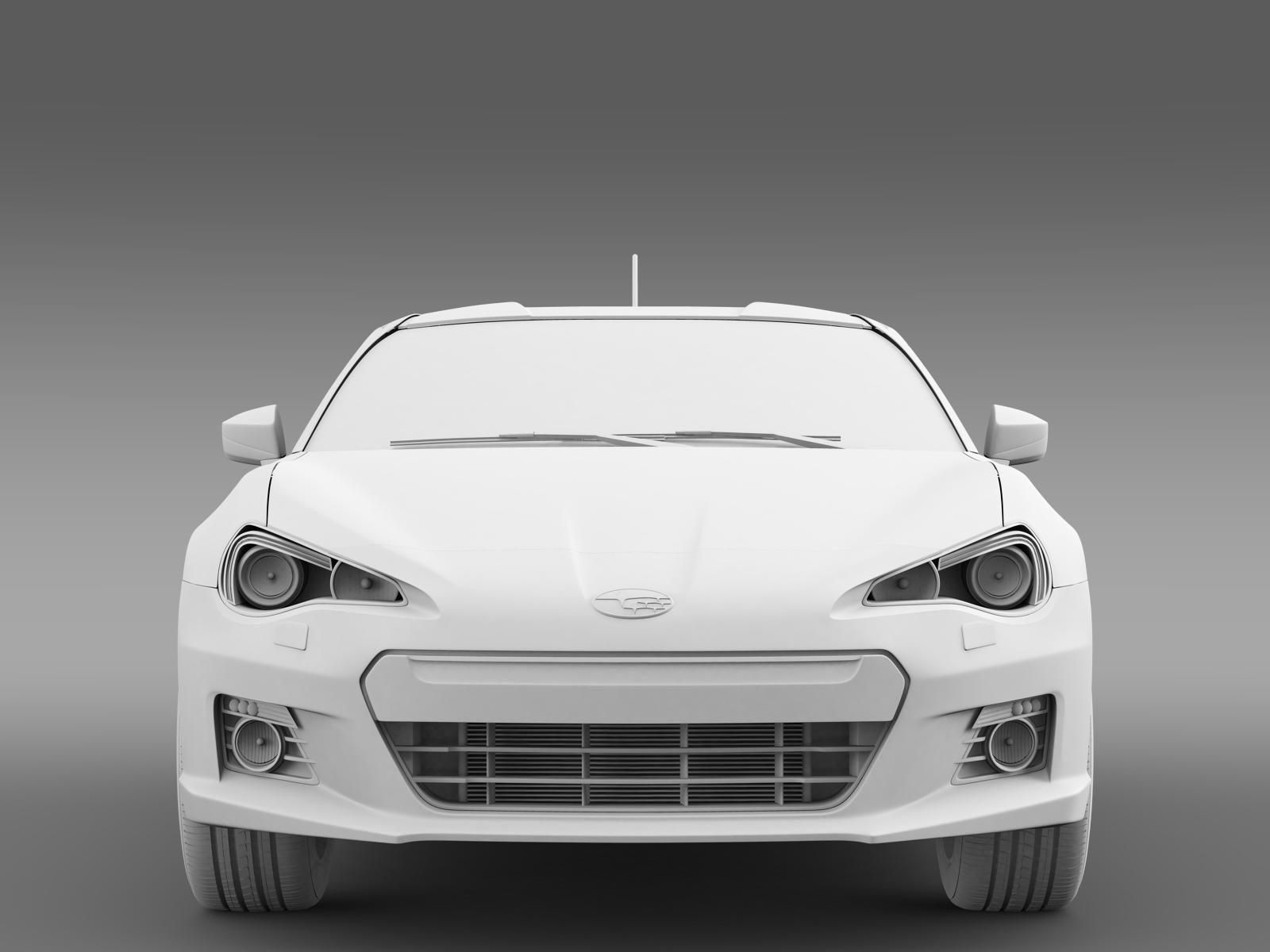 Subaru BRZ ZC6 2012 3D Model MAX OBJ 3DS FBX C4D LWO LW ...