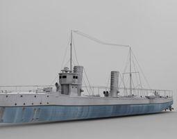 Sultanhisar Battleship 3D Model