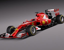 Formula 1 Ferrari 2014 3D Model