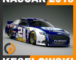 Nascar 2013 Car - Brad Keselowski Ford Fusion 2 3D Model