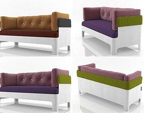 3D model Koja sofa low