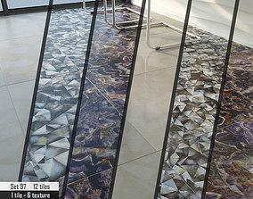 3D tiles semi-precious ABC Stone Set