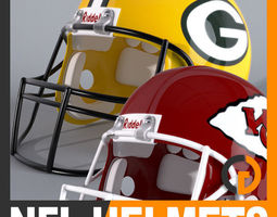 NFL Helmets Pack 3D Model