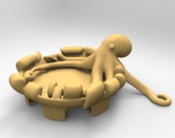 Octopus ashtray 3D Model