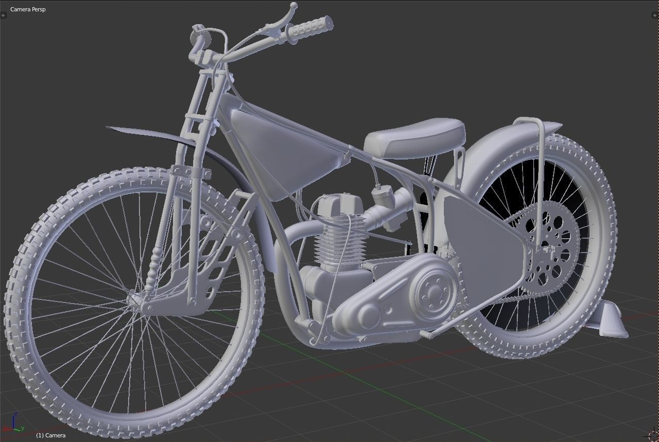 Speedway Bike 3d Model Max Obj Ma Mb Blend Mtl Cgtrader Com