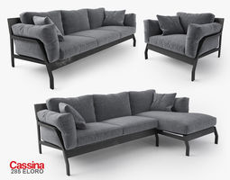 Cassina 285 Eloro sofas 3D Model