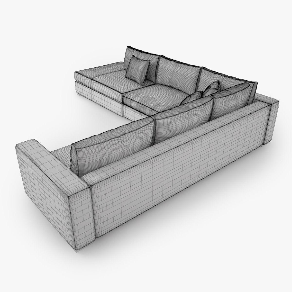 boconcept cenova bg52 3d model max obj fbx. Black Bedroom Furniture Sets. Home Design Ideas