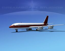 Boeing 707 Corporate 2 3D Model