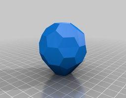 3D printable model Bucky ball door knob