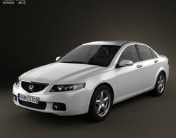 3d model honda accord sedan 2003